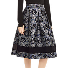 Buy Oasis NTU Full Midi Skirt, Multi/Grey Online at johnlewis.com