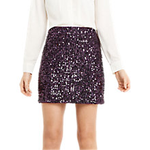 Buy Oasis Sequin Tinsel Mini Skirt, Purple Online at johnlewis.com