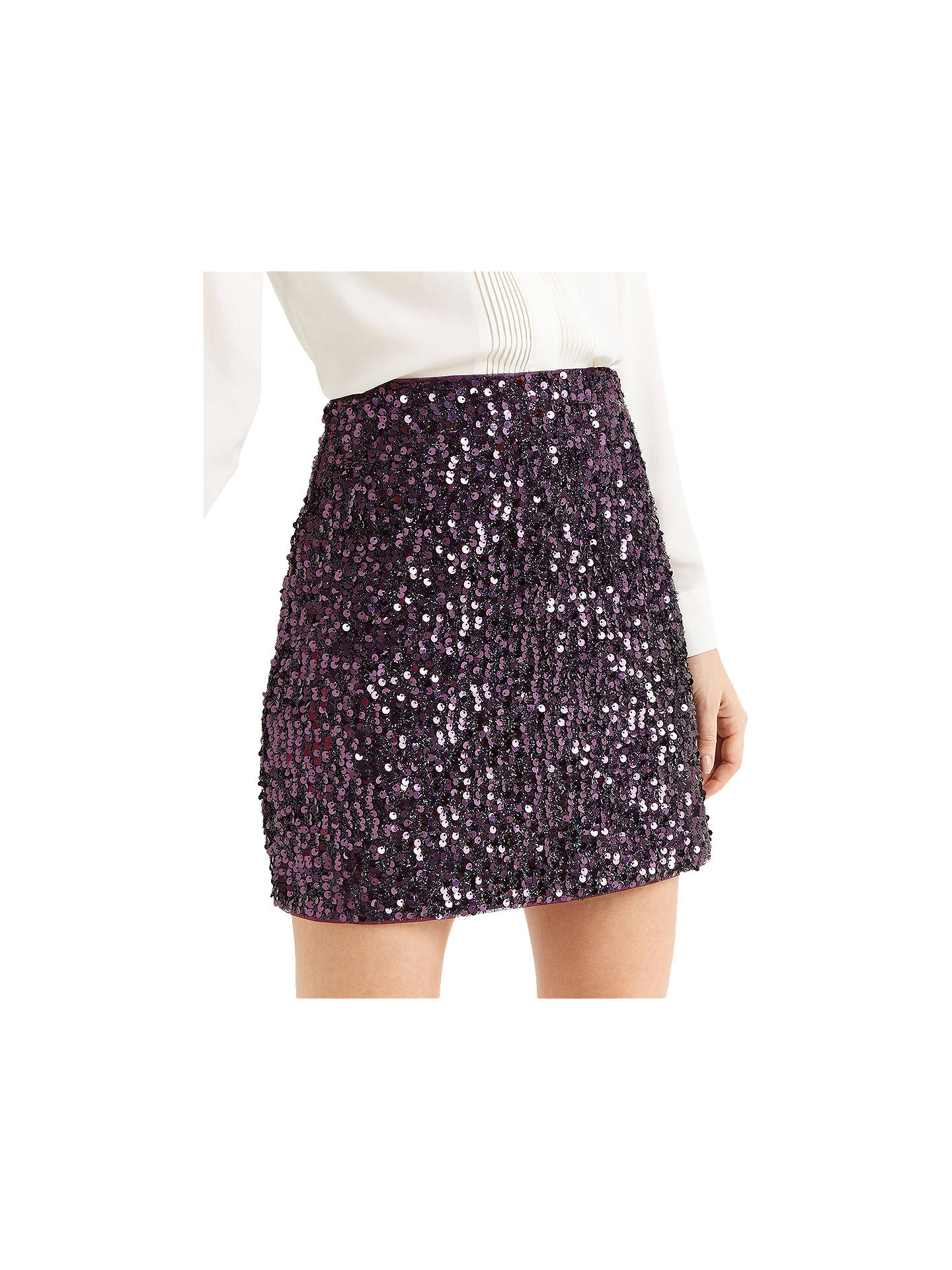 81388dbb6 ... Buy Oasis Sequin Tinsel Mini Skirt, Purple, XS Online at johnlewis.com