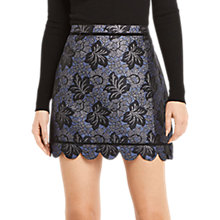 Buy Oasis Jacquard Scallop Hem Skirt, Multi Online at johnlewis.com