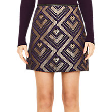 Buy Oasis Rene Jacquard Mini Skirt, Multi Online at johnlewis.com