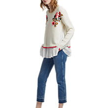 Buy French Connection Vienna Knitted Long Sleeve Jumper, Winter White/Multi Online at johnlewis.com
