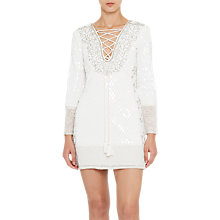 Buy French Connection Mumtaz Strappy Dress, Winter White Online at johnlewis.com