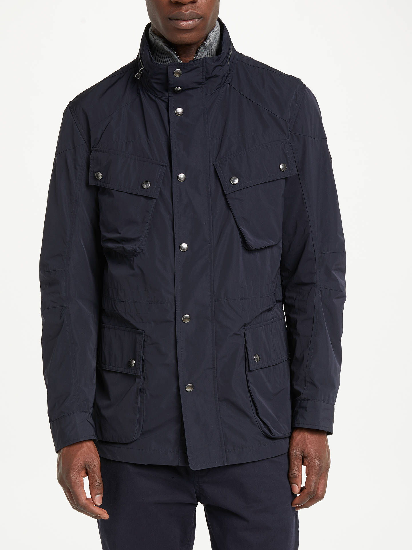 various colors 3acb9 d489b Buy Hackett London Velospeed Four Pocket Jacket, Navy, S Online at  johnlewis.com ...
