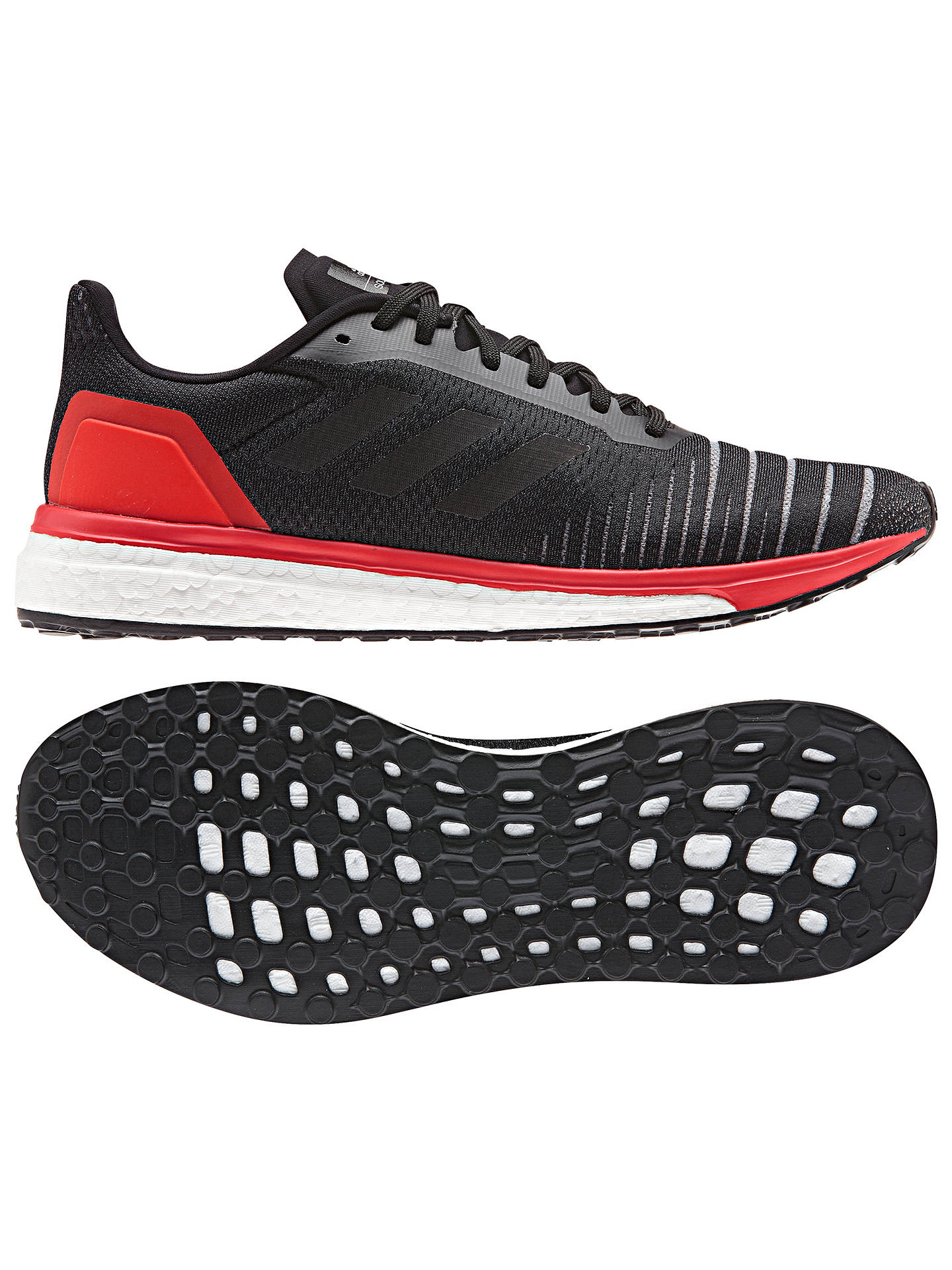 more photos 8560d 749f4 ... Buyadidas Solar Drive Mens Running Shoes, Core Black, 7 Online at  johnlewis. ...