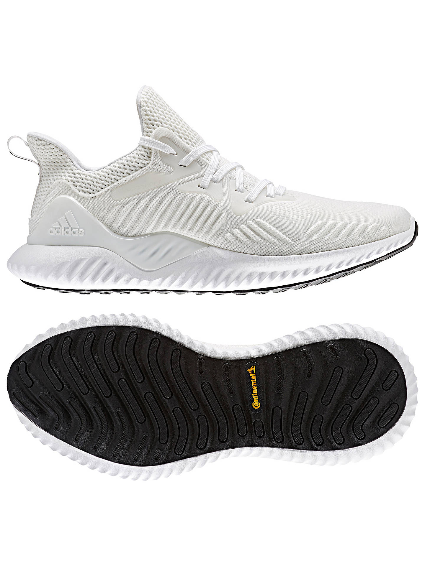 Buy adidas Alphabounce Beyond Men's Running Shoes, White/Silver, 7 Online at johnlewis.com