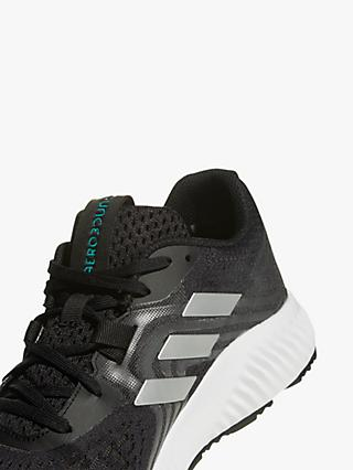 adidas Aerobounce 2 Mens Running Shoes, Core BlackSilver