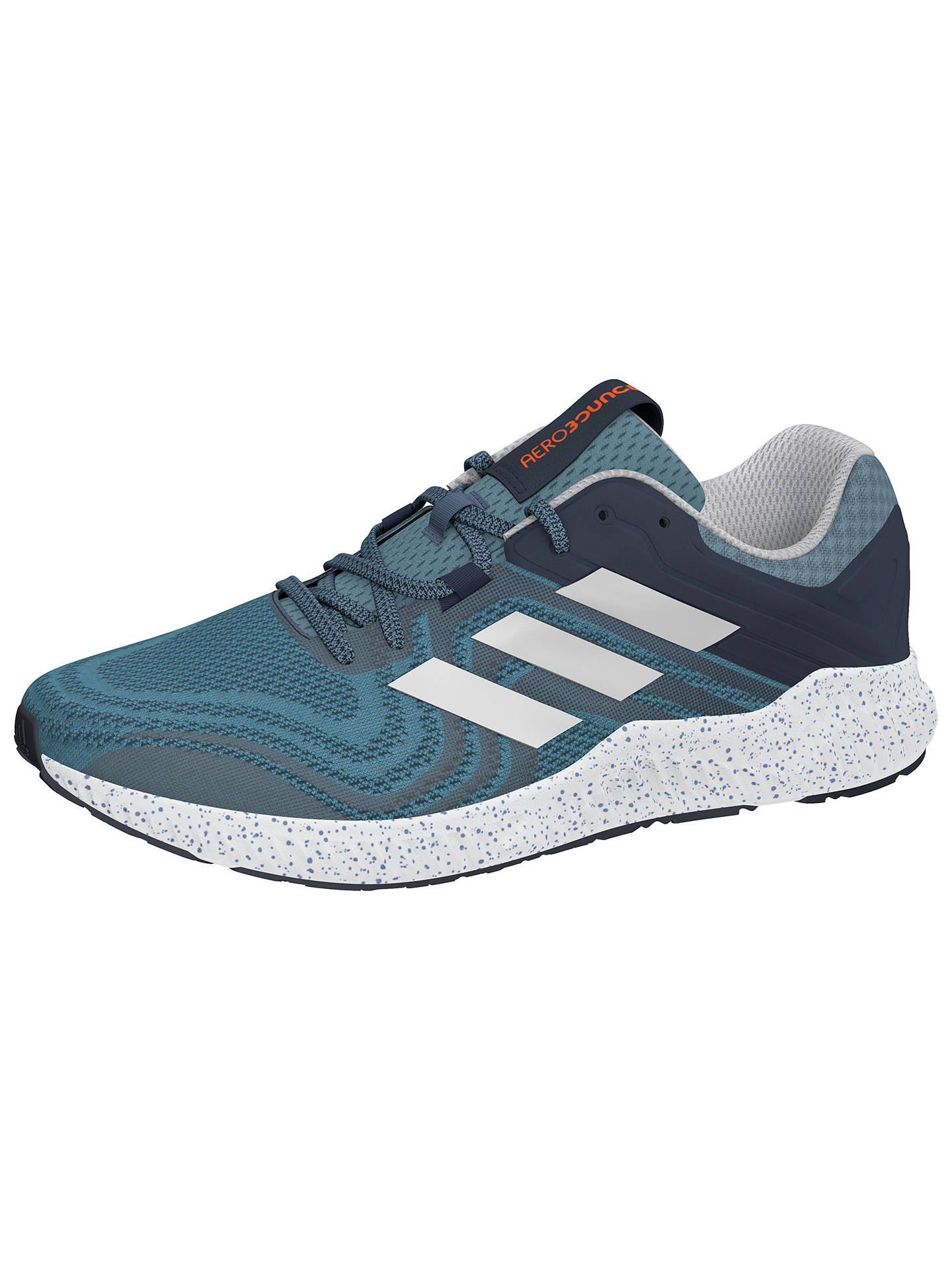 adidas Aerobounce Men's Running Shoes, Hi-Res Blue/Silver