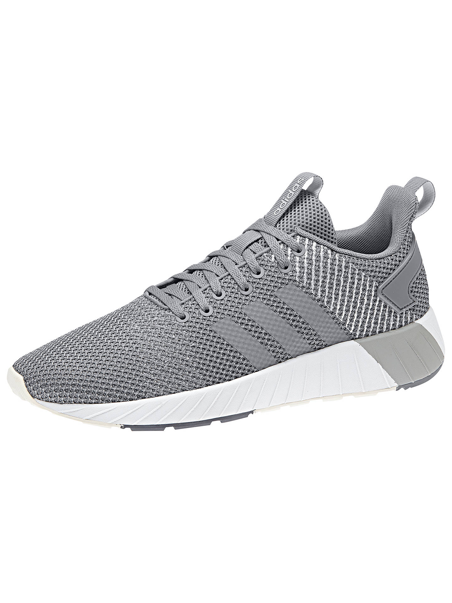 Buyadidas Questar BYD Men's Running Shoes, Grey/White, 7 Online at johnlewis.com