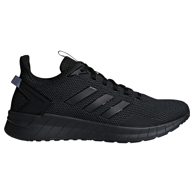 adidas questar passaggio uomini scarpe da corsa, cuore nero / carbonio a john lewis