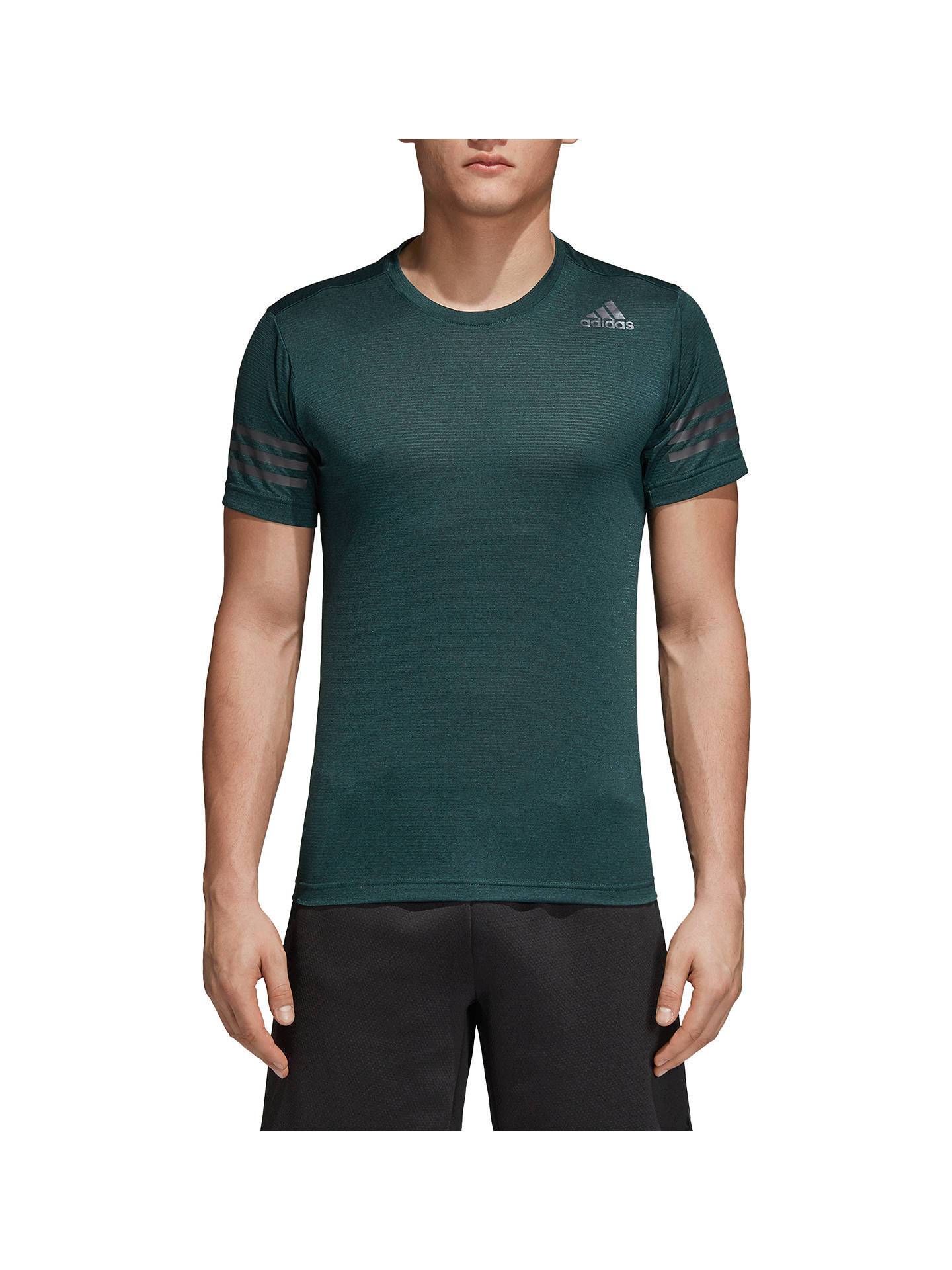 Buy adidas FreeLift Short Sleeve Training Top, Noble Green, S Online at johnlewis.com