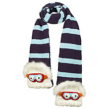 Buy Fat Face Children's Yeti Scarf, Blue Online at johnlewis.com