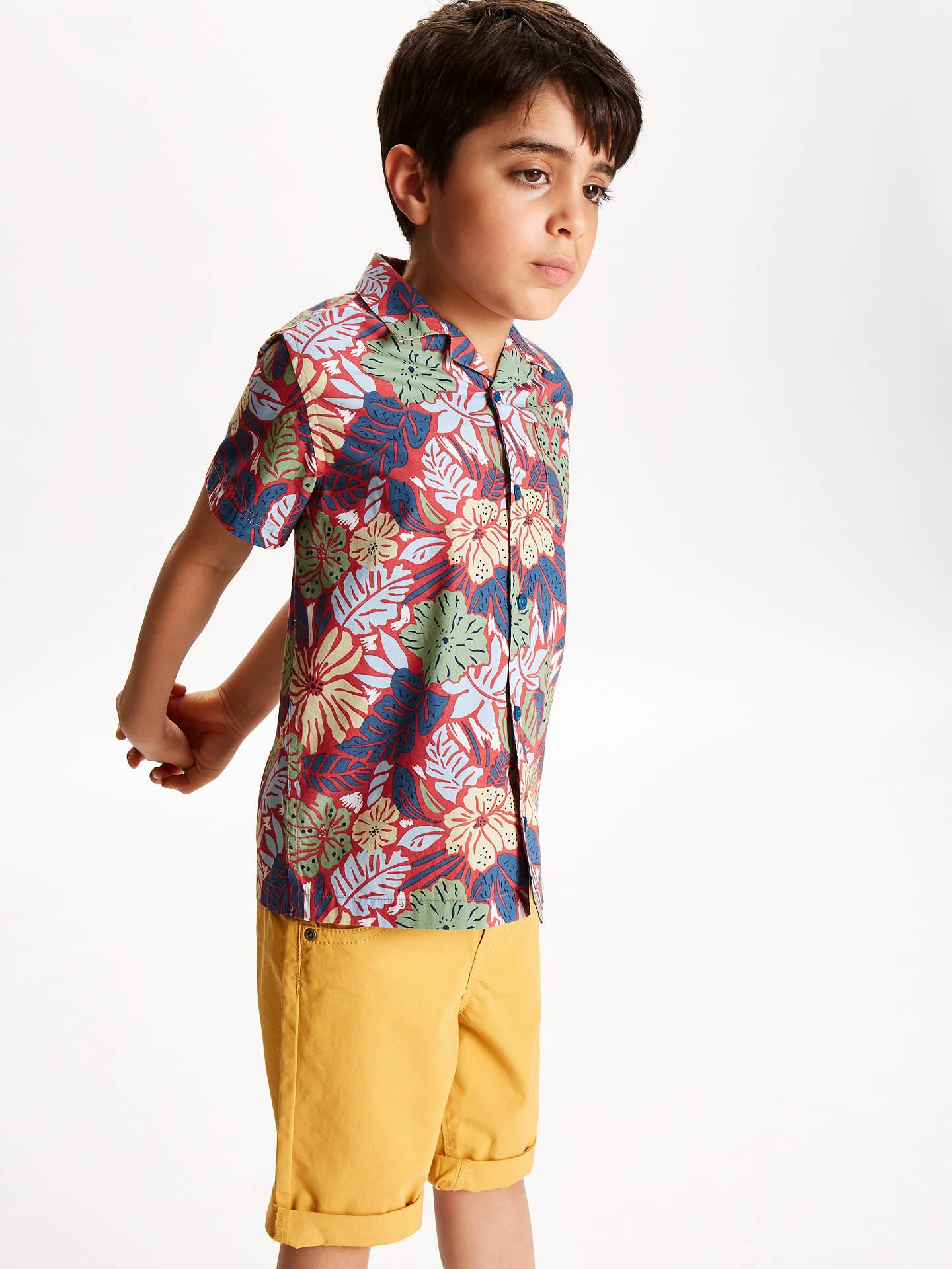 51f120ed9 ... Buy John Lewis & Partners Boys' Vintage Floral Shirt, Blue, 2 years  Online ...