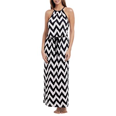 Freya Making Waves Maxi Dress, Black/White