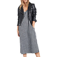 Buy hush Gingham Flannel Dress, Black/White Online at johnlewis.com