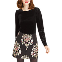 Buy Oasis Velvet Puff Sleeve Top Online at johnlewis.com