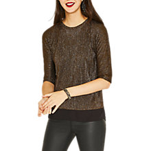 Buy Oasis Drop Sleeve Crinkle Top, Bronze Online at johnlewis.com