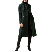 Buy Hobbs Karolina Wool Rich Trench Coat, Evergreen Online at johnlewis.com