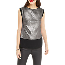 Buy Oasis Metallic Textured T-Shirt, Pewter Online at johnlewis.com