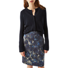 Buy Jigsaw Textured Marble Print Skirt, Navy Online at johnlewis.com