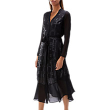 Buy Coast Jazmine Checked Dress, Black Online at johnlewis.com