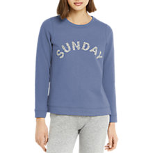 Buy Oasis Sunday Sweatshirt, Mid Blue Online at johnlewis.com