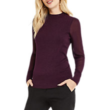 Buy Oasis Sheer Sleeve Jumper Online at johnlewis.com