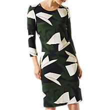 Buy Jigsaw Abstract Stokes Jersey Dress, Navy/Green Online at johnlewis.com