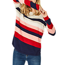 Buy Oasis Bridgette Cosy Striped Jumper, Mid Grey/Multi Online at johnlewis.com
