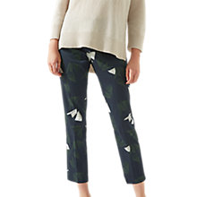 Buy Jigsaw Abstract Strokes Trousers, Navy Online at johnlewis.com
