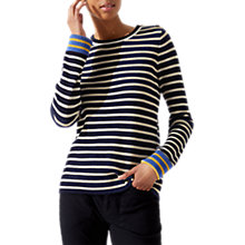 Buy Jigsaw Contrast Stripe Jumper, Multi/Sunflower Online at johnlewis.com