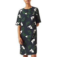 Buy Jigsaw Abstract Strokes T-Shirt Dress, Navy Online at johnlewis.com