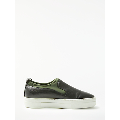 Kin by John Lewis Editta Slip On Trainers, Black/Green