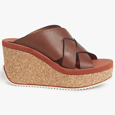See by Chloé Mina Cork Wedge Sandals, Chocolate