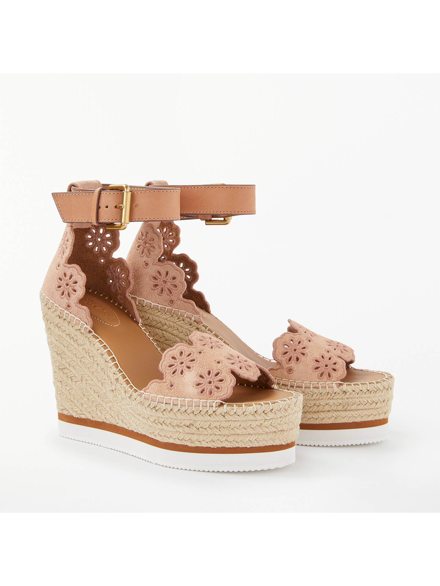 6fdf0398843 Buy See by Chloé Glyn Cut Out Floral Wedge Heel Sandals