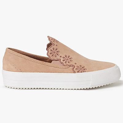 See by Chloé Cut Out Skater Plimsolls, Pink Suede