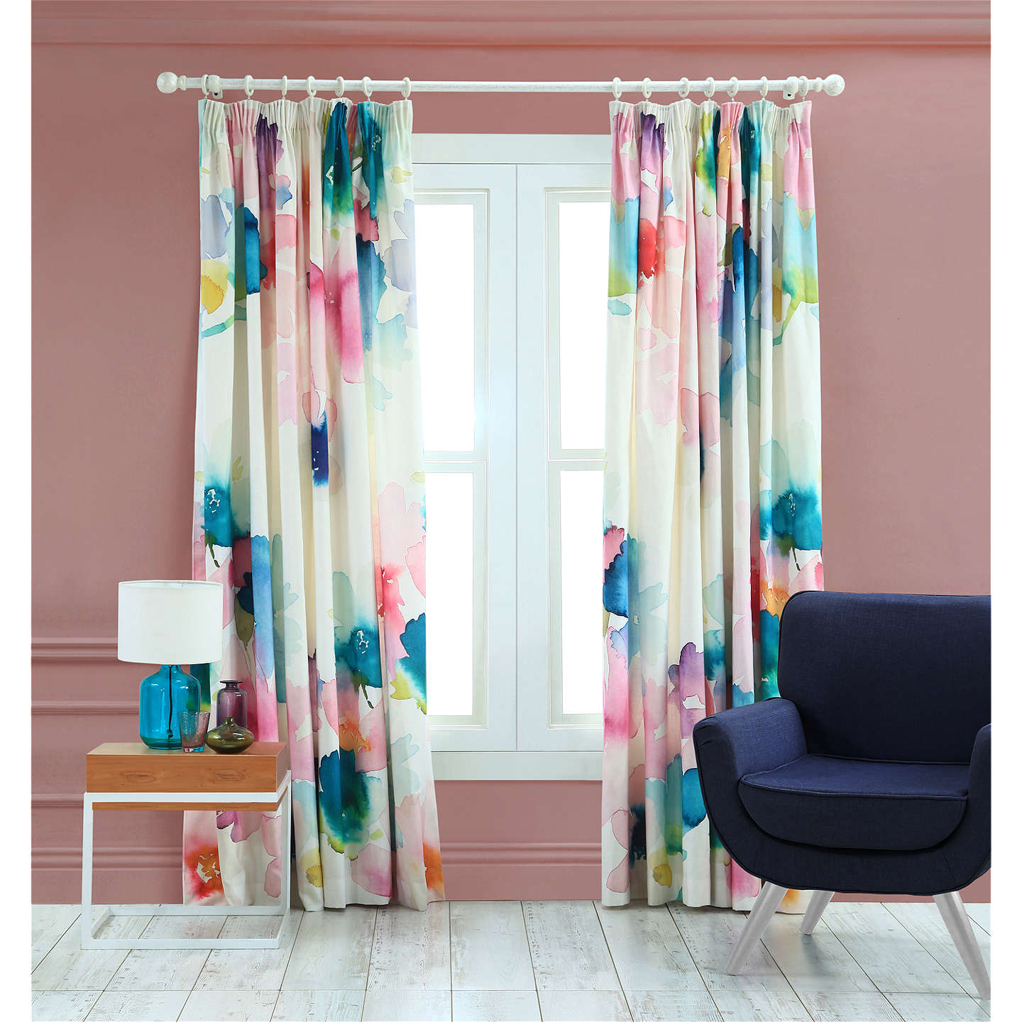 Bluebellgray Sanna Lined Pencil Pleat Curtains by Bluebellgray