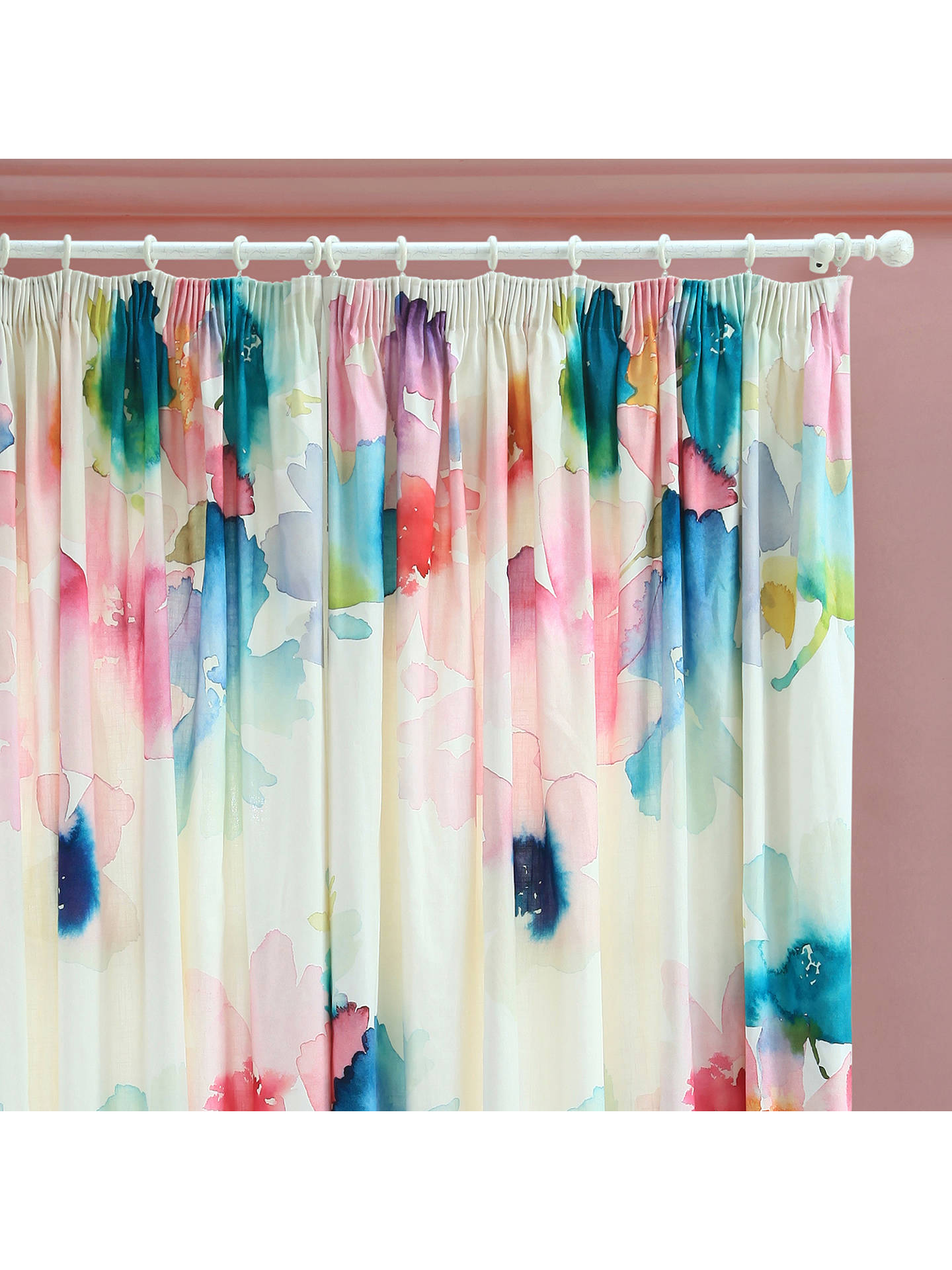 Buybluebellgray Sanna Lined Pencil Pleat Curtains, Multi, W228 x Drop 137cm Online at johnlewis.com