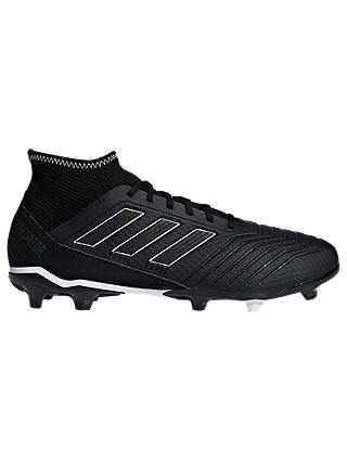 Buy adidas Predator 18.3 Men's Firm Ground Football Boots, Core Black, 7 Online at johnlewis.com