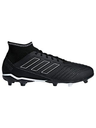 adidas Predator 18.3 Men's Firm Ground Football Boots, Core Black