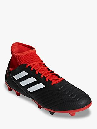 46ce493f7f77 adidas Predator 18.3 Football Boots, Core Black/Red