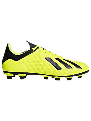 adidas X 18.4 FG Firm Ground Football Boots, Solar Yellow/Core Black