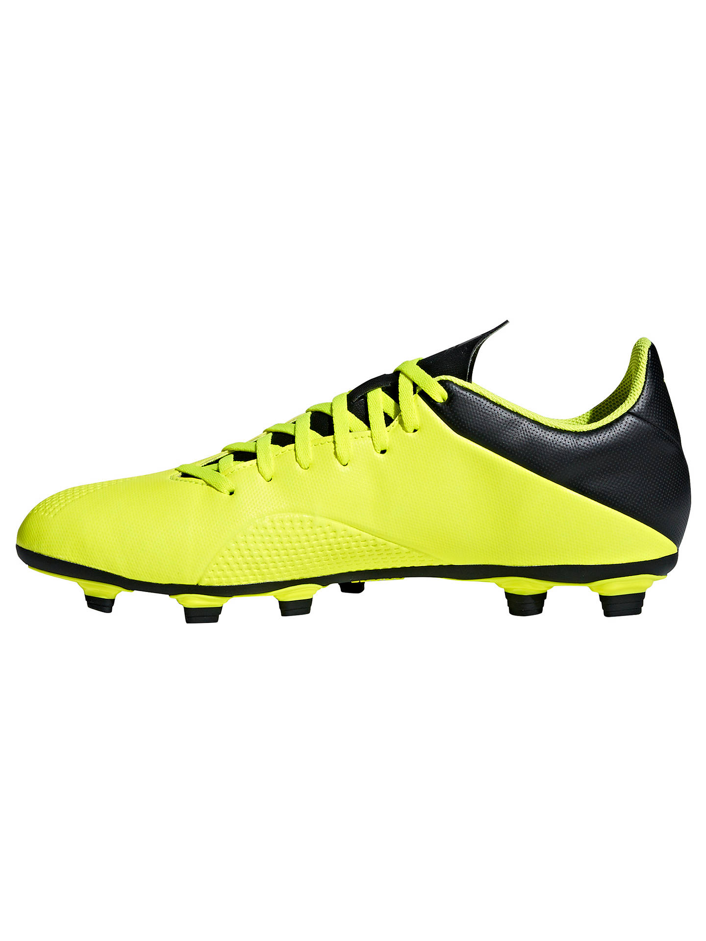 Buy adidas X 18.4 FG Football Boots, Solar Yellow/Core Black, 8 Online at johnlewis.com