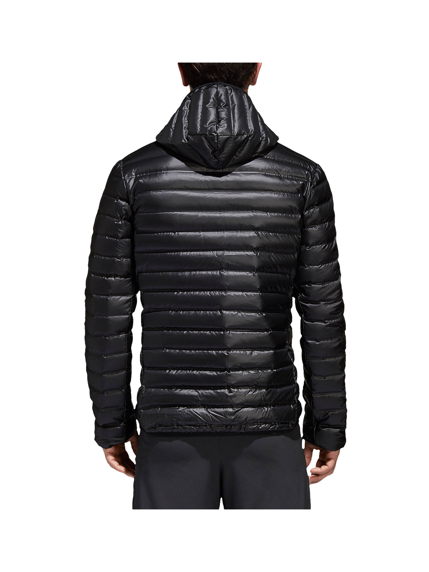 Buyadidas Varilite Down Long Sleeve Hooded Men's Puffer Jacket, Black, S Online at johnlewis.com
