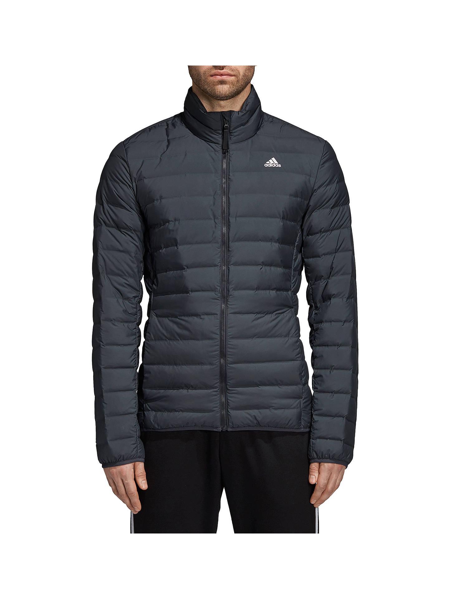 detailed look 9cc3d b901c Buyadidas Varilite Down Long Sleeve Mens Puffer Jacket, Carbon, S Online  at johnlewis.