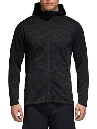Buy adidas Fleece Training Hoodie, Grey/Black, S Online at johnlewis.com