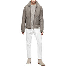 Buy Reiss Toni Shearling Bomber Jacket Online at johnlewis.com