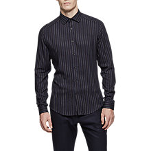 Buy Reiss Ifans Stripe Slim Fit Shirt, Navy Online at johnlewis.com