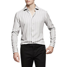 Buy Reiss Ifans Stripe Slim Fit Shirt, Grey Online at johnlewis.com