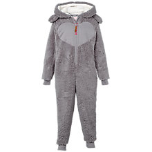 Buy Fat Face Children's Bunny Onesie, Grey Online at johnlewis.com